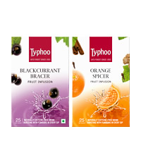 Typhoo Blackcurrant Bracer & Orange Spicer Fruit Infusions pack (25 ...