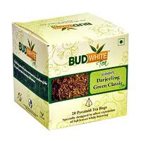 Budwhite Darjeeling Green Classic Tea (20 Pyramid tea bags)