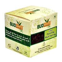 Budwhite Darjeeling Black Supreme Tea (20 Pyramid tea bags)