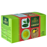 Nargis Greenz Ginger Lemon Organic Green Tea (25 tea bags)