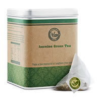 Dancing Leaf Jasmine Green Tea Caddy (25 Pyramid tea bags)
