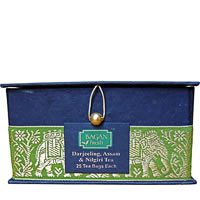 Bagan Darjeeling-Assam-Nilgiri Tea Combo - Black Gift Box, Golden Zari ...