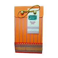Bagan Masala Chai Gift Pack - Orange Paper with Zari Lace, 100 gm
