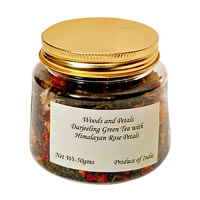 Woods and Petals Darjeeling Green Tea with Himalayan Rose Petals, Loose ...