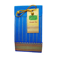 Bagan Assam Tea Gift Pack - Royal Blue Paper with Zari Lace, 100 gm