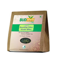 Budwhite Darjeeling Silver Needle White Tea Organic Loose 50 gm