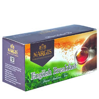 Nargis English Breakfast Loose Leaf Black Tea (20 pod bags)