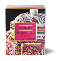 Newby Heritage Strawberry & Mango Loose Leaf Black Tea, 100 gm Carton