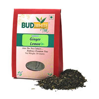 Budwhite Ginger Lemon Organic Loose Full-Leaf Tea 50 gm