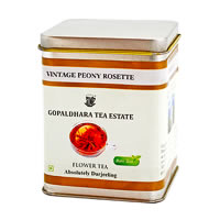 Gopaldhara Vintage Peony Rosette Flower Tea, 25 gm Caddy