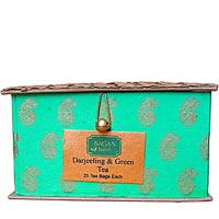 Bagan Darjeeling, Assam Tea Twin Pack - Green Gift Box with Bamboo Mat (50 ...