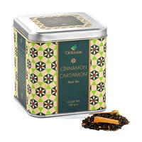 Octavius Black Tea with Cinnamon and Cardamom Flavour, Loose Leaf 100 gm ...