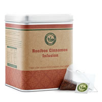 Dancing Leaf Rooibos Cinnamon Infusion Tea Caddy (25 Pyramid tea bags)
