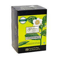 Glenburn Pure Darjeeling Tea, Whole Leaf (20 Pyramid tea bags)