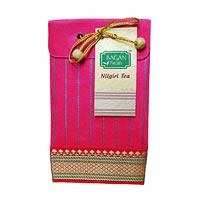 Bagan Nilgiri Tea Gift Pack - Red Paper with Zari Lace, 100 gm
