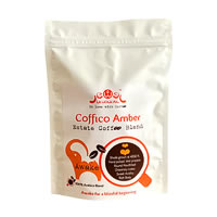 Coffico Amber Awake 100% Arabica Blend Coffee, Whole Beans 250 gm