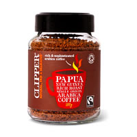 Clipper Papua New Guinea Organic Arabica Rich Roast Instant Coffee, 100 gm