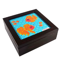 Twirly Tales Fish Series Square Tea Bag Organiser