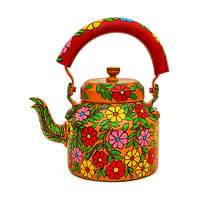 Kaushalam Hand-Painted Tea Kettle, Large - Bloom