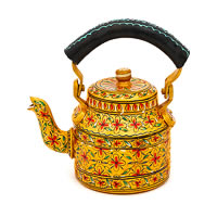 Kaushalam Hand-Painted Tea Kettle, Small - Golden and Black