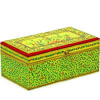 Kaushalam Hand-Painted Tea Box - Yellow