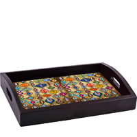 ThinNFat Rajasthani Hangings Printed Tray