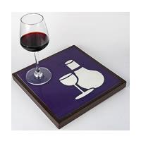 Amalgam Hand-carved Sushi Patern Motif Stone Platter - Purple & White