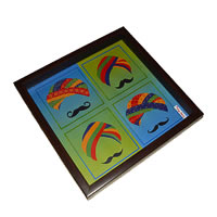 Twirly Tales Turban Series Square Tray