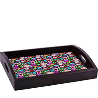 ThinNFat Doodle Faces Printed Tray