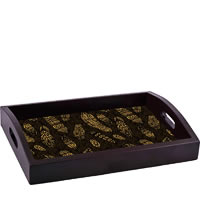ThinNFat Tribal Feather Printed Tray