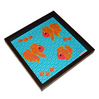 Twirly Tales Fish Series Square Tray