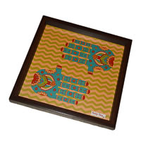 Twirly Tales Ethnic Hands Series Square Tray
