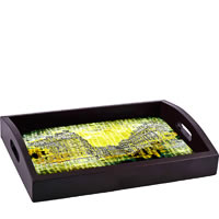 ThinNFat Distort Buildings Printed Tray