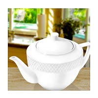 Wilmax ENGLAND Fine Porcelain Julia Tea Pot, 900 ml (White)