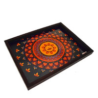 Twirly Tales Diya Series Rectangular Tray