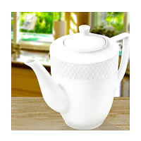 Wilmax ENGLAND Fine Porcelain Julia Coffee Pot, 750 ml (White)