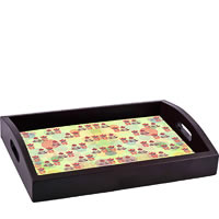 ThinNFat Vintage Paper Flower Printed Tray