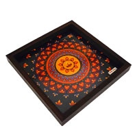 Twirly Tales Diya Series Square Tray
