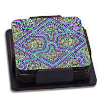 ThinNFat Pycadelic Fusion Printed Coasters - set of 6