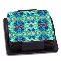 ThinNFat Crystal Kaleidoscope Printed Coasters - set of 6
