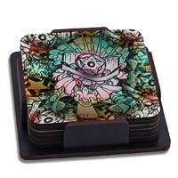 ThinNFat Star florida Printed Coasters - set of 6