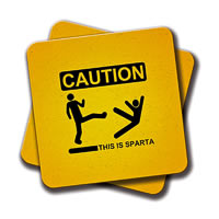 Amey Caution Coasters - set of 2