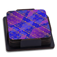 ThinNFat Indian Pattern Printed Coasters - set of 6