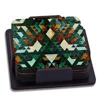 ThinNFat Hardrock Printed Coasters - set of 6