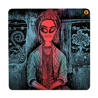 Posterboy Charbak Alien Frida Coasters - set of 4