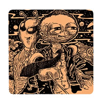 Posterboy Charbak Alien Uttam Suchitra Coasters - set of 4