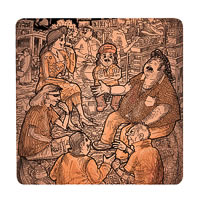 Posterboy Charbak Non Intellectuals Coasters - set of 4