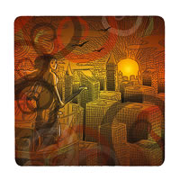 Posterboy Charbak Urban Bhairavi Coasters - set of 4