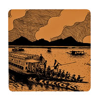Posterboy Charbak Shikara Coasters - set of 4