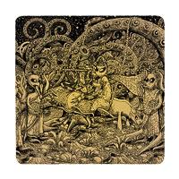 Posterboy Charbak Alien Radha Krishna Coasters - set of 4